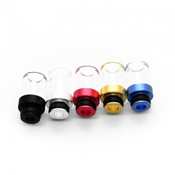 Colorful Aluminum + Glass 510 Drip Tip