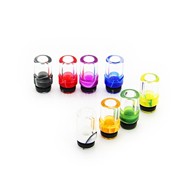 Colorful Acrylic Glass 510 Drip Tip And Free