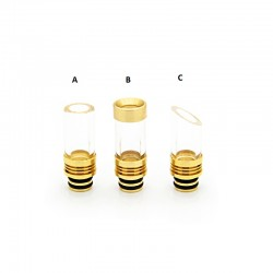 Brass + Glass Large Caliber 510 Drip Tip