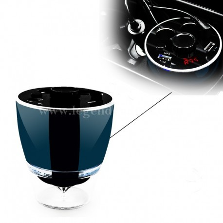 Multifunctional 6-in-1 Cup Holder Car Power Adapter