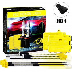 CROSS TIGER High Fast Bright HB4 HID Xenon Lamp Headlights Gold Combination Set