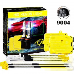CROSS TIGER High Fast Bright 9004 HID Xenon Lamp Headlights Gold Combination Set