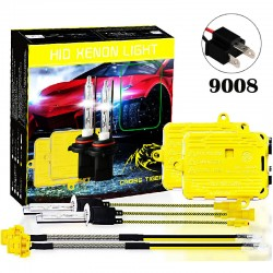 CROSS TIGER High Fast Bright 9008 HID Xenon Lamp Headlights Gold Combination Set