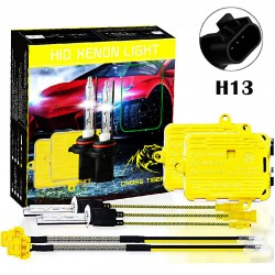 CROSS TIGER High Fast Bright H13 HID Xenon Lamp Headlights Gold Combination Set