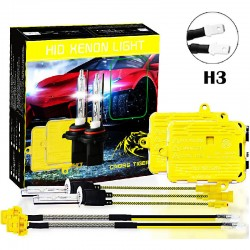 CROSS TIGER High Fast Bright H3 HID Xenon Lamp Headlights Gold Combination Set