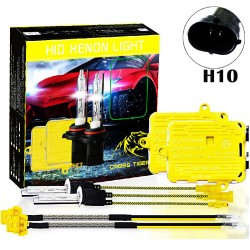 CROSS TIGER 220W H10 HID Xenon Headlights conversion Gold Combination Set