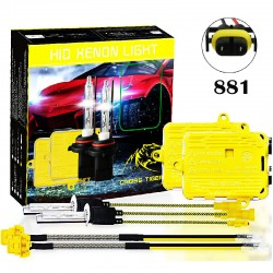 CROSS TIGER High Fast Bright 881 HID Xenon Lamp Headlights Gold Combination Set