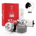 80W HB2 CREE Chip Led Headlights Conversion Kits X7 Series