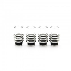 Ring Style Stainless Steel+Glass 510 Drip Tip