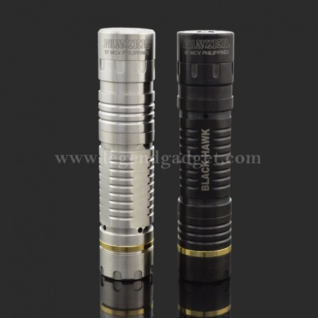 Stainless Steel / Black Panzer Style Mechanical Mod Clone