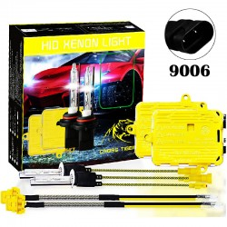 CROSS TIGER 220W 9006 HID Xenon Lamp Headlights Gold Combination Set