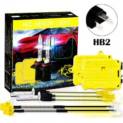 CROSS TIGER High Fast Bright HB2 HID Xenon Lamp Headlights Gold Combination Set