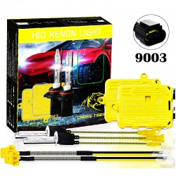 CROSS TIGER High Fast Bright 9003 HID Xenon Lamp Headlights Gold Combination Set