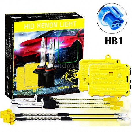 CROSS TIGER High Fast Bright HB1 HID Xenon Lamp Headlights Gold Combination Set