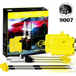 CROSS TIGER High Fast Bright 9007 HID Xenon Lamp Headlights Gold Combination Set