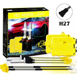 CROSS TIGER High Fast Bright H27 HID Xenon Lamp Headlights Gold Combination Set