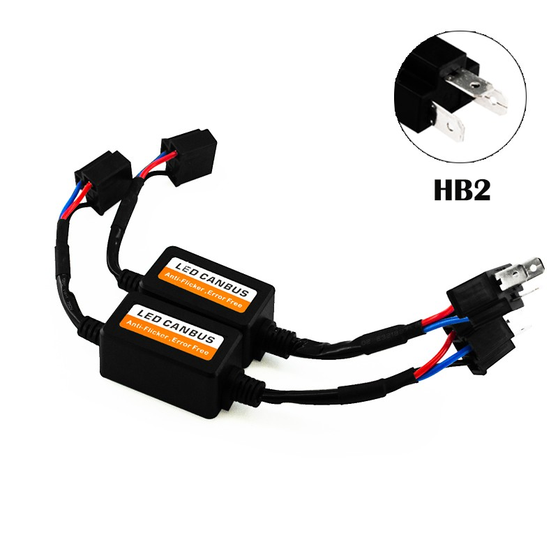 2x H4 Led Headlight Canbus Error Free Anti Flicker Resistor Canceller Decoder/_ER